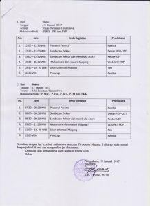 Jadwal Pembekalan Magang I